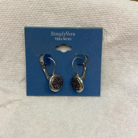 LIKE NEW Simply Vera Black Pavé Earrings